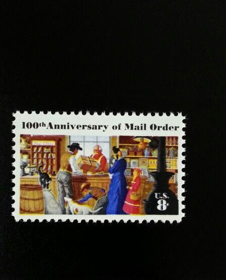 1972 8c Mail Order Business, 100th Anniversary Scott 14