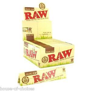 Raw-Organic-Hemp-King-Size-Slim-Rolling-Papers-Natural-Unrefined-Skins-UK-SELLER