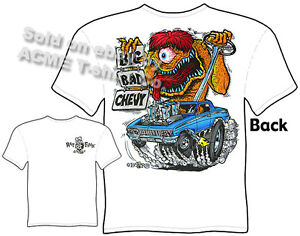 Big-Bad-Chevy-Rat-Fink-T-Shirts-62-Chevy-T-Shirt-Chevrolet-Clothing-1962-Impala
