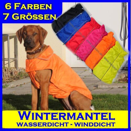 Hundemantel Regenmantel Hund Hundebekleidung Hundejacke Wintermantel Petsam NEU