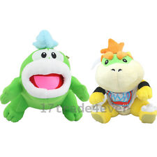 "Super Mario  7'' Koopa Jr. Bowser & 8"" Bros. Spike Plush Doll Stuffed Toy 2pcs"