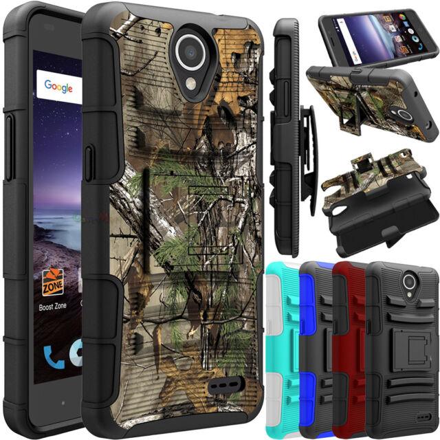 superior quality ba759 e3053 For ZTE Maven 3/ Z835 Phone Case Hybrid Belt Clip Holster Stand Hard Armor  Cover