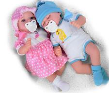 "17"" Realistic Reborn Baby Doll Girl Boy Handmade Sleeping Open Eyes Dummy Bottle"