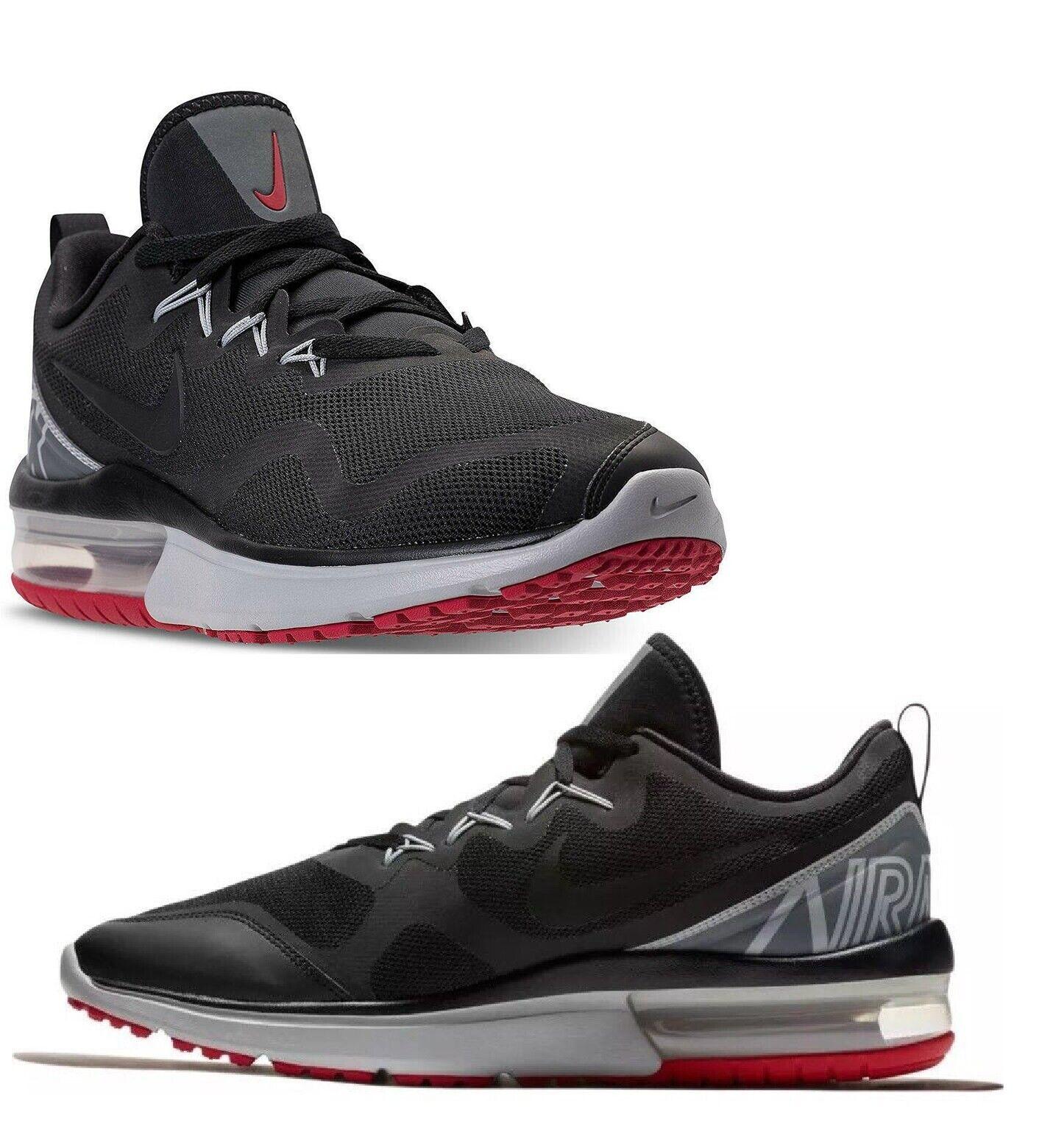 NIke Air Max Fury Mens Trainer shoe Sze 8 Black Red Grey