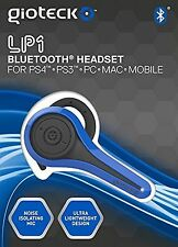 Gioteck Cuffie Bluetooth Chat lp-1 - BLU (ps4/ps3/pc)