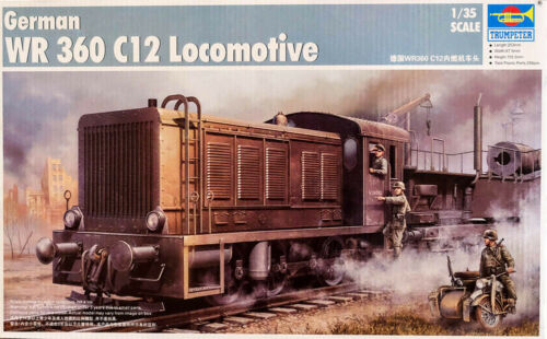 WR 360 C12 Locomotive Deutsche Kriegslokomotive 1:35 Model Kit Trumpeter 00216