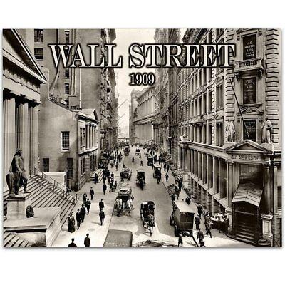 Bull Market WALL STREET STOCK BROKER POSTER 11x14 FINANCIAL ART PRINT