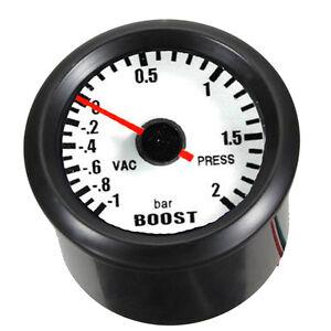 """2"""" 52mm Auto KFZ LED-Lichtleiste Anzeige Turbodruck Vakuum Instrument"""