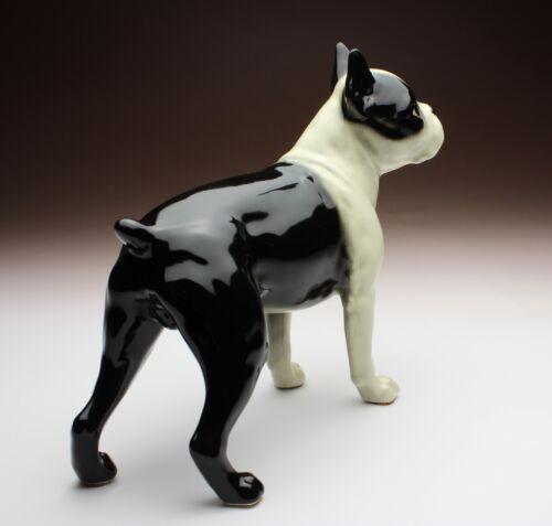 "Boston Terrier Standing Dog Porcelain Figurine 7/"" Long Small Size Japan NEW"