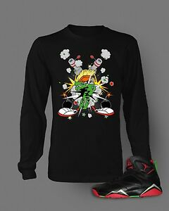 604907ba T shirt to Match Retro Air Jordan 7 Marvin The Martian Long Sleeve T ...