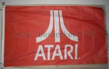 Atari 3'x5' Red Flag Banner Pong Frogger Pac-Man Arcade Video Game - U.S. seller