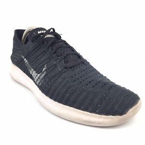 9158161ede0b Men s Nike Free RN Flyknit Black Running Shoes Size 11 White ...