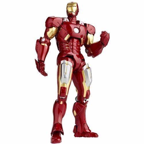 Tokusatsu Revoltech No.042 The Avengers Iron Man Mark VII Statuetta Kaiyodo