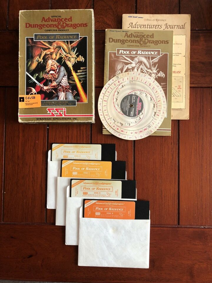 Pool of Radiance til C64 (NY PRIS!), Commodore 64