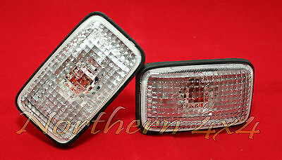 Nissan Patrol GU front side turn indicator lamp - Clear lens! - Pair