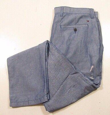various design sneakers for cheap official shop Tommy Hilfiger Men's Light Weight Blue Linen Blend Slim Fit Pants ...