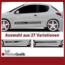 Aufkleber / Seitenbeschriftung / Dekor / Peugeot 206 - 27 Versionen #035