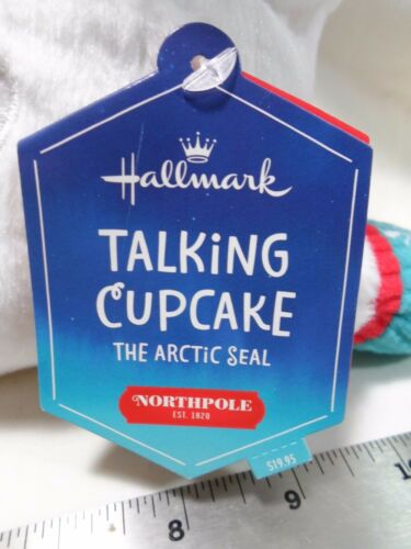 "2015 Hallmark Northpole Talking Cupcake The Arctic Seal 12/"" Plush"