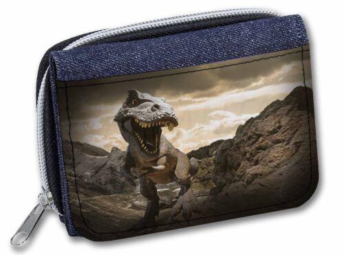 3D Dinosaur by Rocks Girls//Ladies Denim Purse Wallet Christmas Gift Ide DIN-3JW