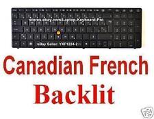 HP EliteBook 8560w 8570w Keyboard - Backlit - Canadian French CF 652683-121