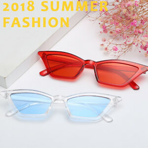 94275dec39180 Image is loading Women-Small-Cat-Eye-Sunglasses-Outdoor-Fashion-Eyewear-