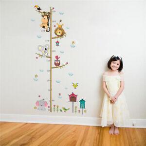 Kids-Children-Room-Decal-Art-Jungle-Animal-Owl-Lion-Monkey-Wall-Stickers-Nursery