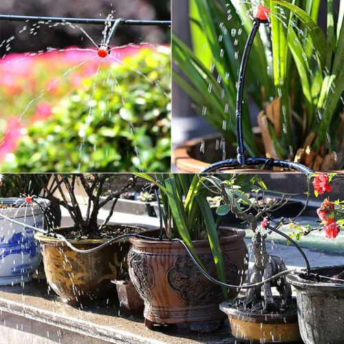40m Wasser Bewässerung Set Mikro Abtropft System Auto Pflanze Garten