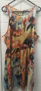 Supre-Size-L-Colourful-Casual-Summer-Sundress-Beach-Dress-EUC