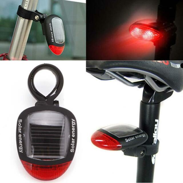 Solar Powered LED Rear Flashing Tail Light for Bicycle Cycling Lamp Safety SP