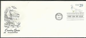 Scott-U624-First-Day-Cover-1-21-92-Virginia-Beach-Single-Country-Geese