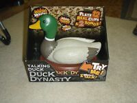 Duck Dynasty Singing & Talking Mechanical Duck 2 Songs 12 Phrases Brand