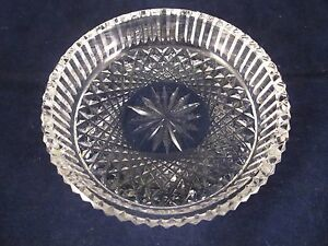 "WATERFORD CRYSTAL GOTHIC MARK 5"" Round Butter Dish #160-369-55 ~ EXCELLENT"