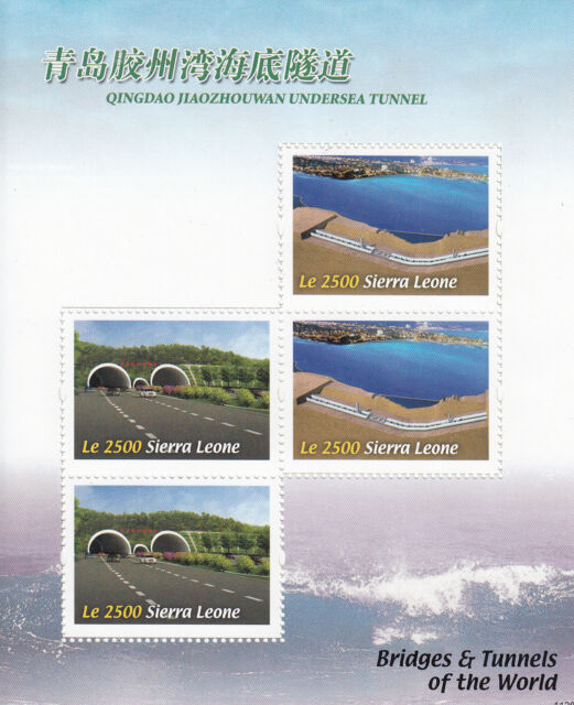 Sierra Leone 2011 MNH Bridges & Tunnels of World 4v M/S Qingdao Jiazhouwan China