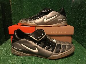 99916b3cb91 Image is loading NIKE-TIEMPO-Indoor-R10-RONALDINHO-Silver-SOCCER-SHOES-