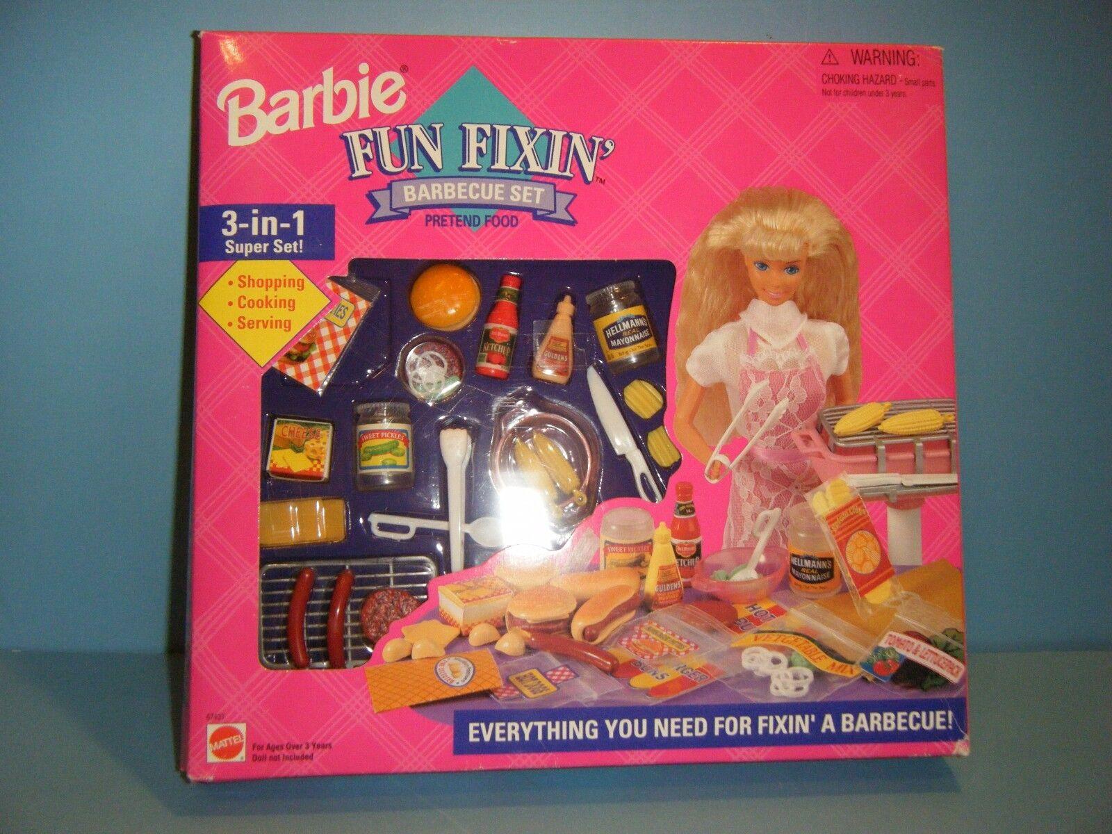 Barbie Fun vienen barbacoa Set  Nuevo