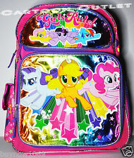 "MY LITTLE PONY BACKPACK 16"" BAG TOTE GIFT BOOKBAG SCHOOL HASBRO GIRLS pink cute"