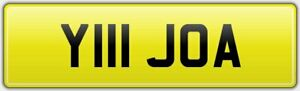 JOANNE-CAR-REG-NUMBER-PLATE-Y111-JOA-ALL-FEES-PAID-JO-JOJO-JOSIE-JOHANNA-JOANNA