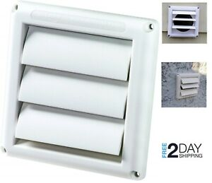 Outdoor Dryer Vent Cover Exhaust Air Duct Ventilation 4 Quot Durable Weather Resist Ebay