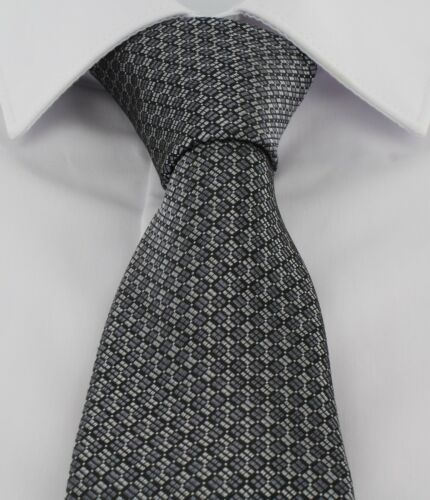 Michelsons of London Checkerboard Grid Tie