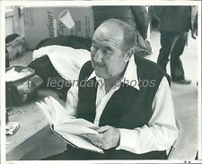 1976 Actor Broderick Crawford Looks Up from Book Original News Service Photo