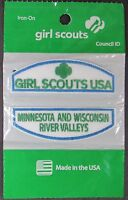 (12) Girl Scout Junior Minnesota & Wisconsin River Valleys Council Id Set Patch