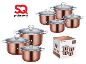 Stainless-Steel-Metallic-Deep-Stockpot-Casserole-Cooking-Pot-Pan-Lid-Set-Axinite