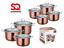 Stainless-Steel-Metallic-Deep-Stockpot-Casserole-Cooking-Pot-Pan-Lid-Set-Axinite thumbnail 1