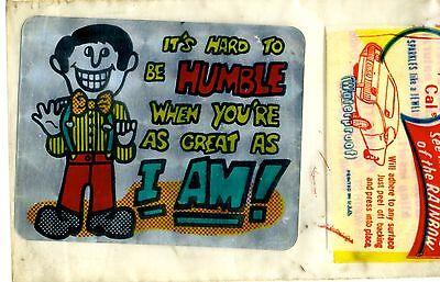 Aufkleber Transport Vtg Prismatische Aufkleber Neuheit It's Hard To Be Humble When You're Als Great