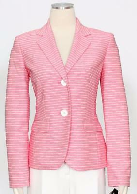 1178-2 Le Suit Donna Fragole Rosa E Bianco Due Pezzi Pantaloni Vestito 8 $ 200 Scelta Materiali