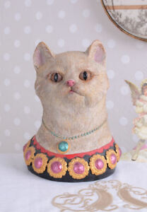 Nostalgia Figura Gato Busto De Gato Estilo Vintage Escultura De Gato