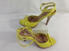 Womens High Heels by Delicious Size 7 Bright Yellow