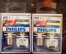 Philips 12898X2 LED BA15S P21 S25 Red Light For Stop Tail Fog Light Lamps