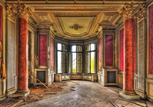 Papier peint papier peint la fresque f17814 ruines débris burgriunen Château