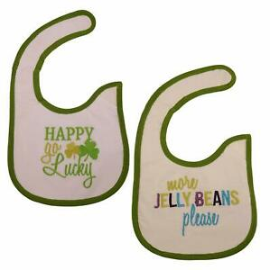 St. Patrick's Day and Easter Baby Bibs Bundle (2 Pack, Happy Go Lucky, More